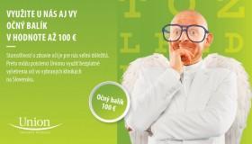 Očný balík v hodnote až 100 EUR od UNION poisťovne!